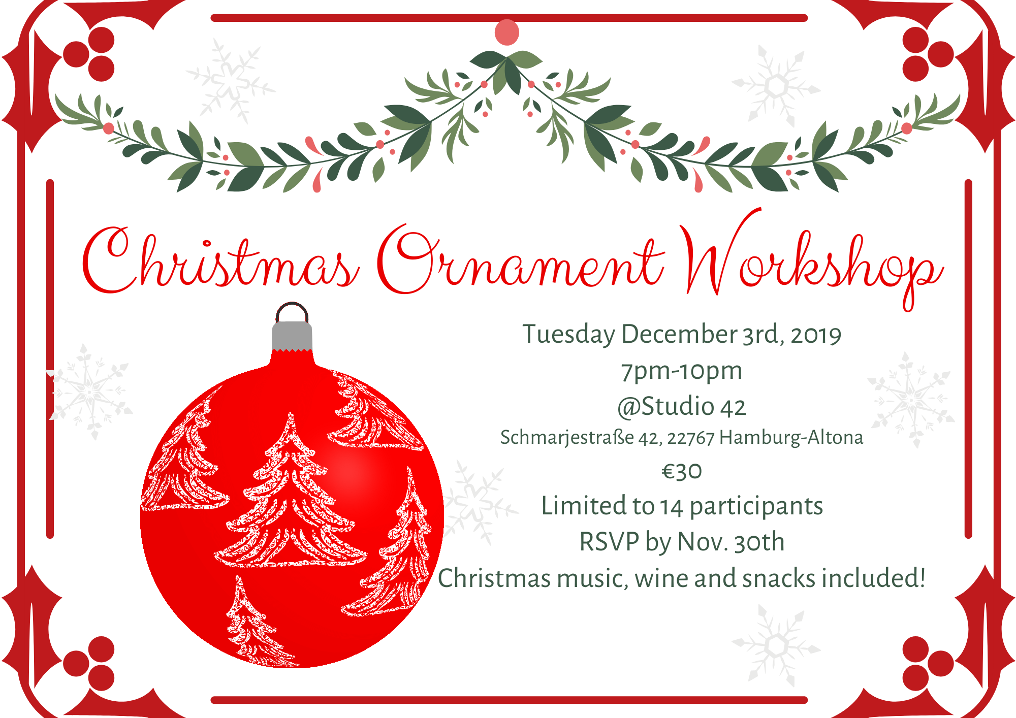 Christmas Ornament Workshop